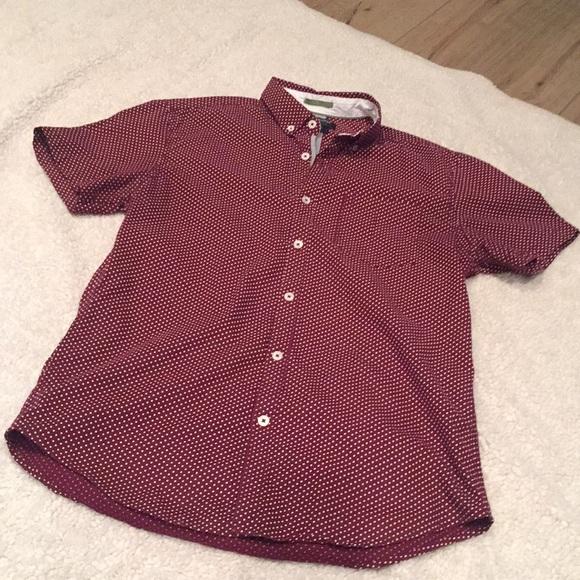 becf3a6c61 Denim    Flower + Cactus Man Ricky Singh Slim-Fit Button Front Short Sleeve  Shirt